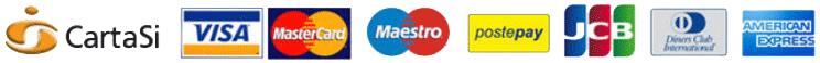 Pagamenti con CartaSI - Visa - Mastercard - Maestro - JBC - Diners - American Express - Ricarica PostePay